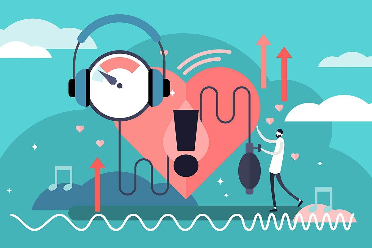 binaurale beats Musik gegen Stress